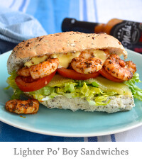 Lighter Southern Shrimp Po' Boy Sandwiches