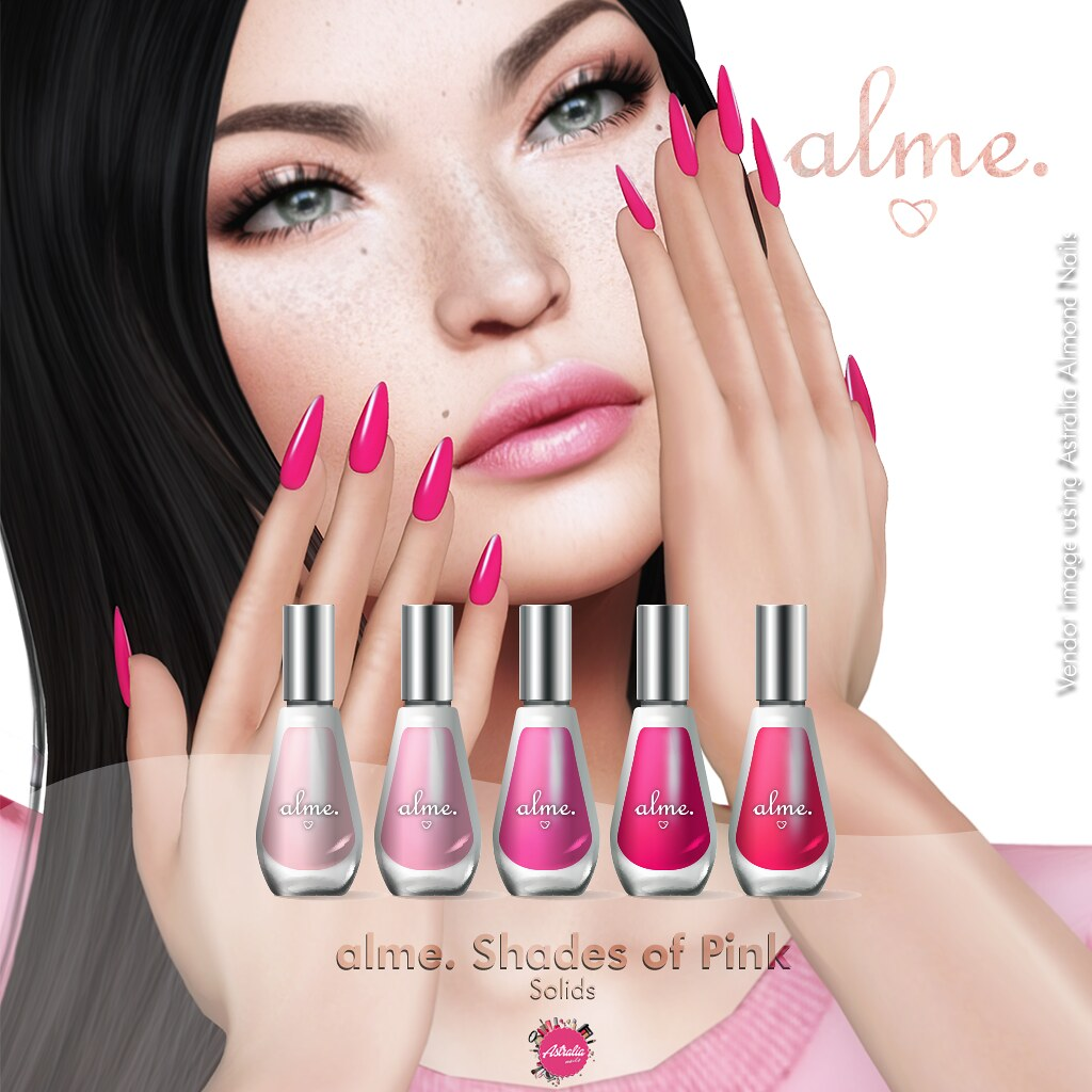 alme. Shades of Pink – Solids – Astralia ONLY