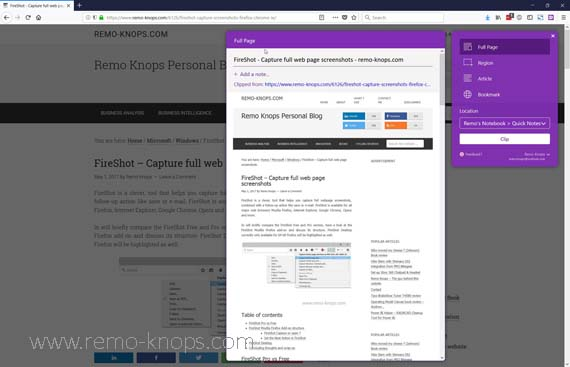 OneNote Web Clipper Firefox, Chrome & Edge 292