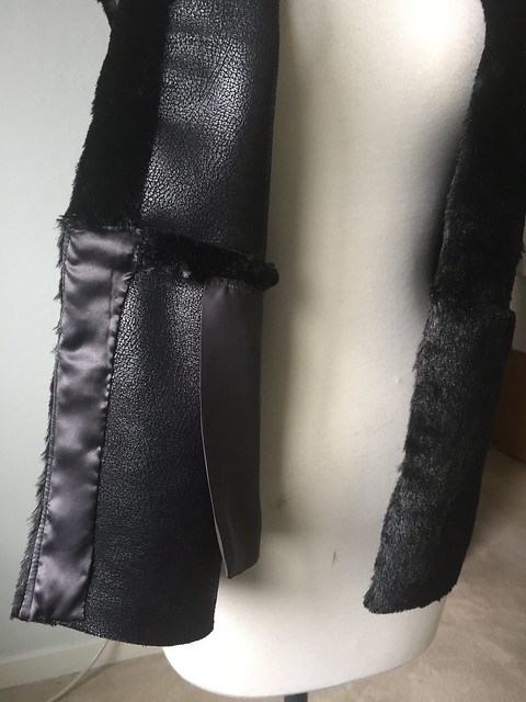 fur vest inside front lapel