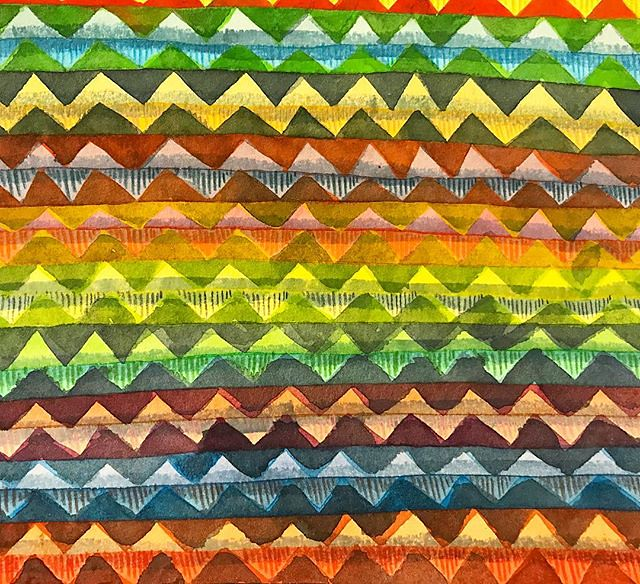 This is a hot mess. Day 19 #patternjanuary -#chevron This is a piece I started years ago at the peak of my chevron obsession, and not even halfway through I decided I was over chevron. I decided to hunt it down and finish it. It looked lame, so I thought