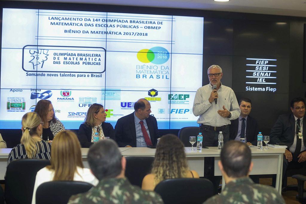 Lançamento da 14ª Olimpíada Brasileira de Matemática das Escolas Públicas - Alex Canziani
