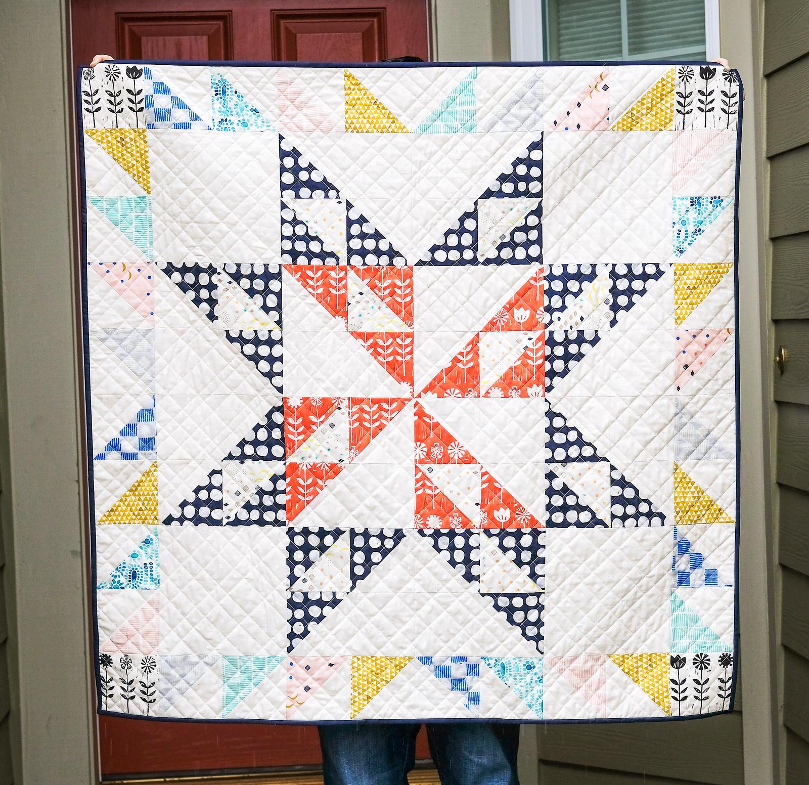 February Giant Block Quilt