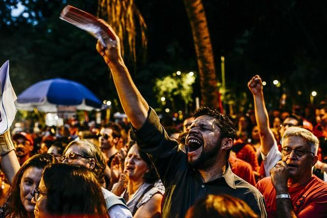Cerca de 50 mil pessoas participaram de protesto, em São Paulo, após a condenação de Lula em segunda instância - Créditos: Mídia Ninja