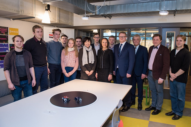 Japānas ministru prezidenta kundzes Akje Abe (Akie Abe) vizīte RTU studentu pilsētiņā Ķīpsalā un Dizaina fabrikā