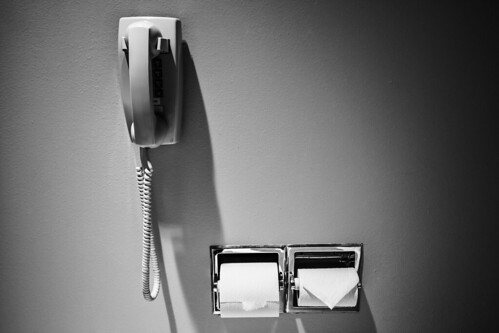 Telephone on the toilet