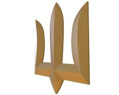 Badge Coat of Arms of Ukraine Free 3D Model