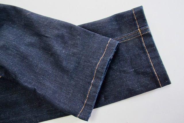 Ginger Jeans made with Robert Kaufman Denim