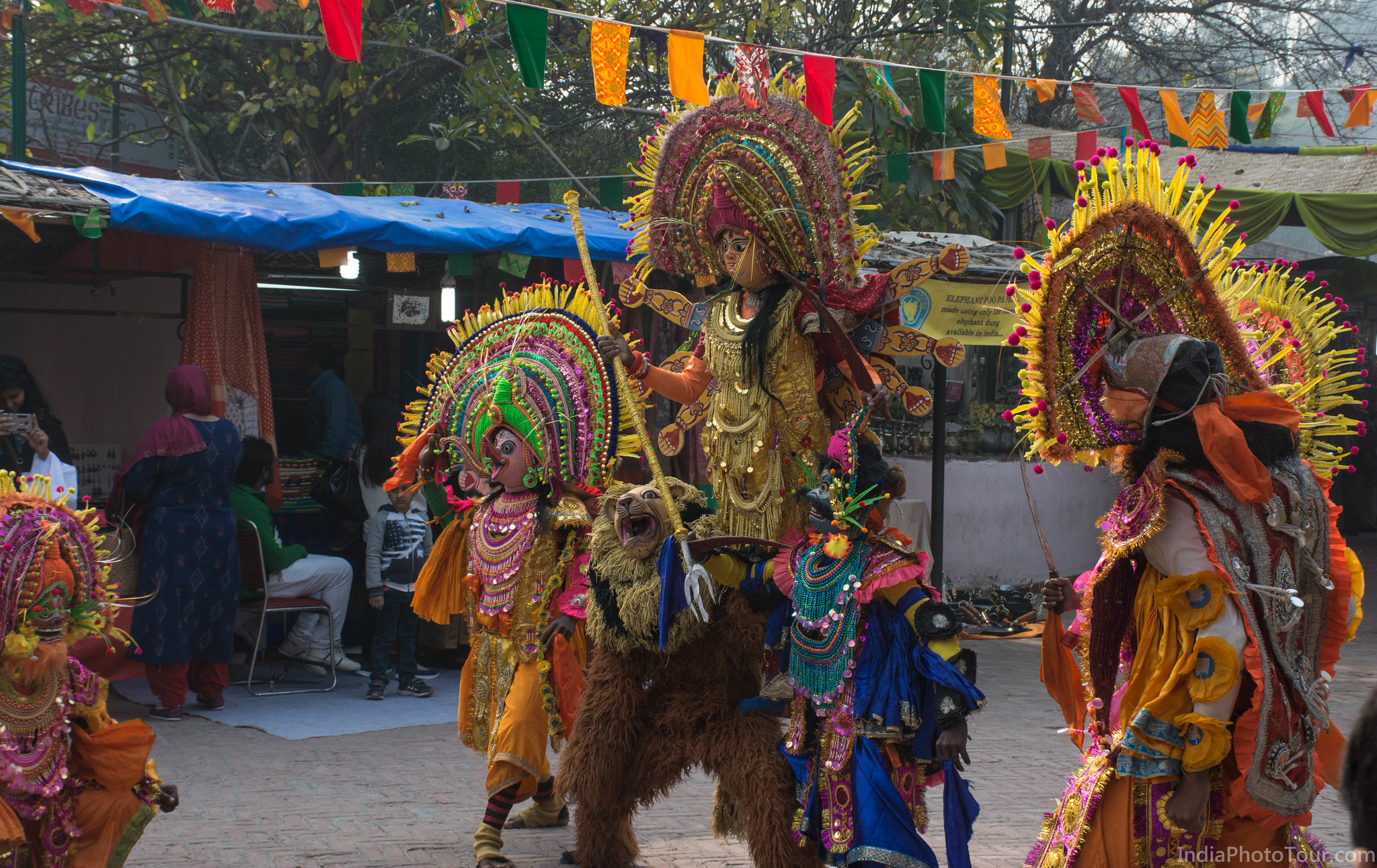Traditional dancers from Bengal performing during a cultural festivals