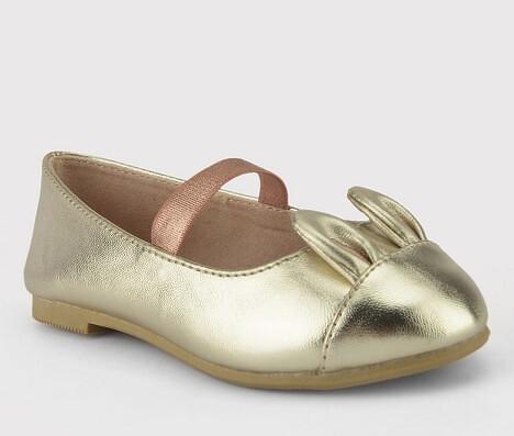 Golden ballet flats Target