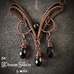 Amethyst Queen - Crystals and Woven Copper Wire Necklace