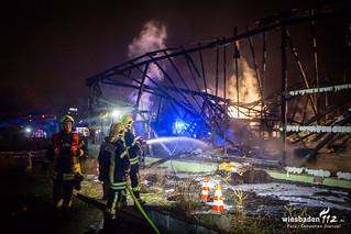 Gewächshausbrand Eschborn 21.01.18