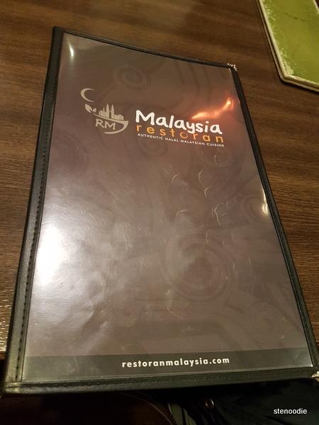 Restoran Malaysia menu cover