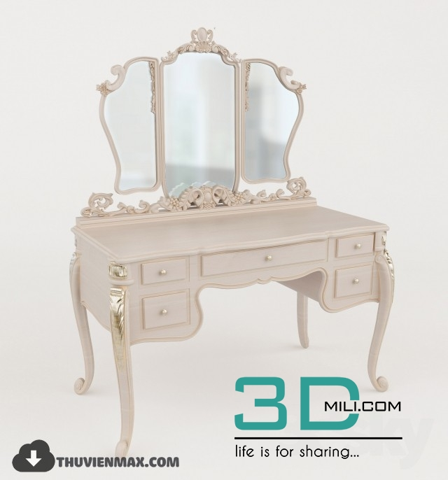 189 Makeup table 3D models free download - 3D Mili - Download 3D