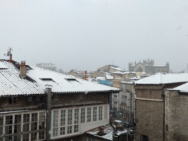 Nieve 7 febrero vitoria
