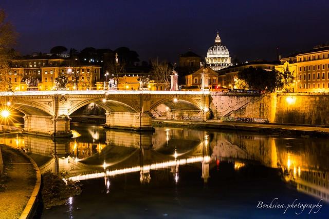 Réflection sur le Tibre - Rome.
