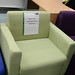 Green club chair E35 as is