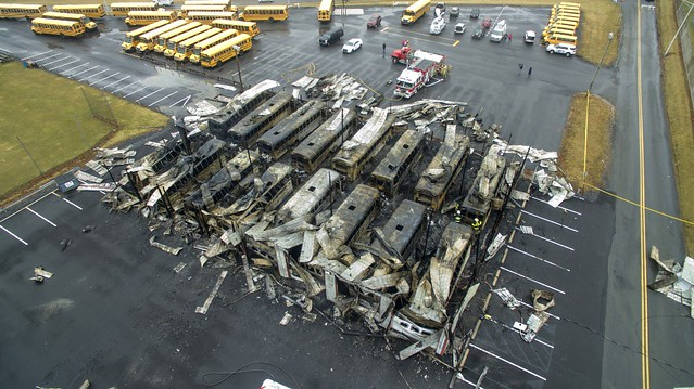 25 school buses destroyed in Lehigh County fire; Classes canceled