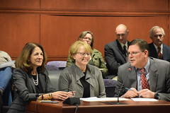 Rep. O'Dea (R-New Canaan, Wilton) testified with Rep. Gail Lavielle (R-Norwalk, Wilton) and Wilton First Selectwoman Lynne Vanderslice in support of H.B. 5181, An Act Extending the Municipal Revaluation Deadline for the Town of Wilton by one year.