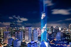 MahaNakhon tower is tallest buildings in Thailand, Silom area, Bangkok Thailand
