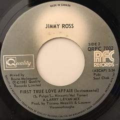 JIMMY ROSS:FIRST TRUE LOVE AFFAIR(LABEL SIDE-B)