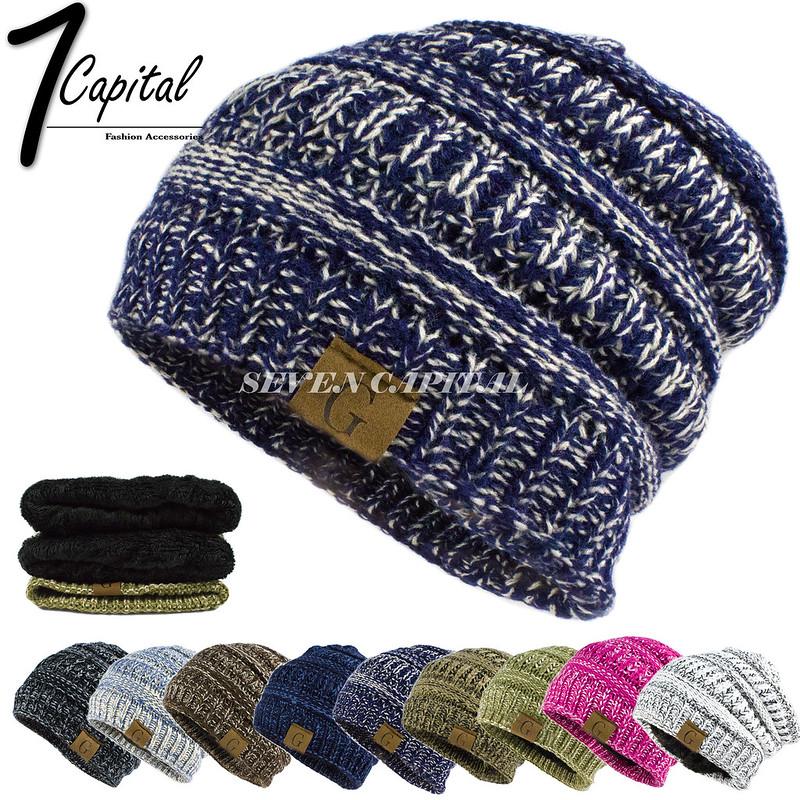 Women s Men Knit Slouchy Baggy Beanie Oversize Winter Hat Ski Fleece  Slouchy Cap. winter hat winter hat 4cc1be8812f4
