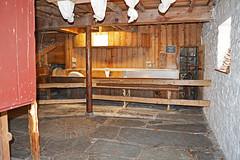 Melin Bompren Corn Mill - flour bagging basement