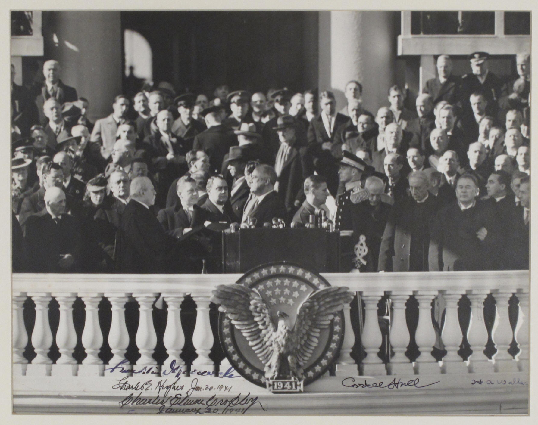 Franklin Roosevelt is inaugurated at the beginning of his third term as U.S. President on January 20, 1941.