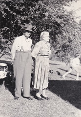 George and Agnes Baxendale,  Christmas 1961
