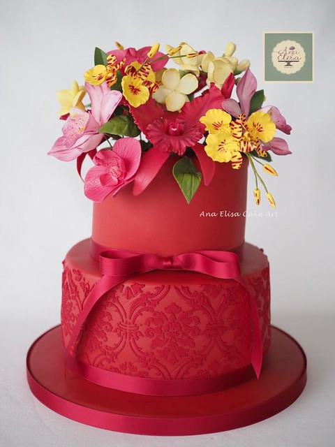Orchids Cake by Ana Elisa Cake Art