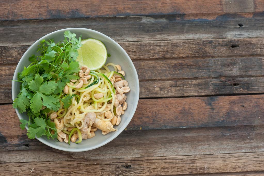 Zucchini & Chicken Pad Thai