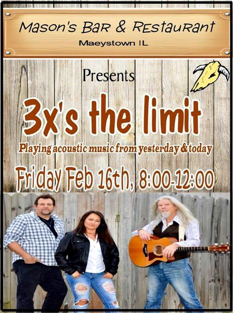 3X's The Limit 2-16-18