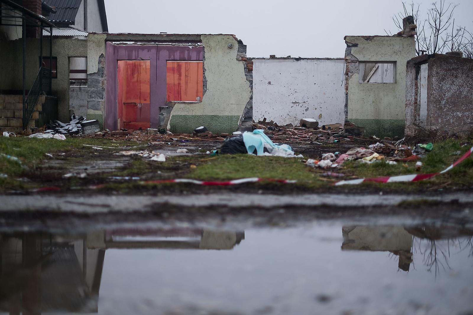 Egy bank által lefoglalt ház és telek Sajószentpéteren | Fotó: Magócsi Márton