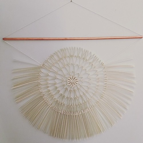 Modern Quilled Macrame Wall Hanging by Griffin Carrick