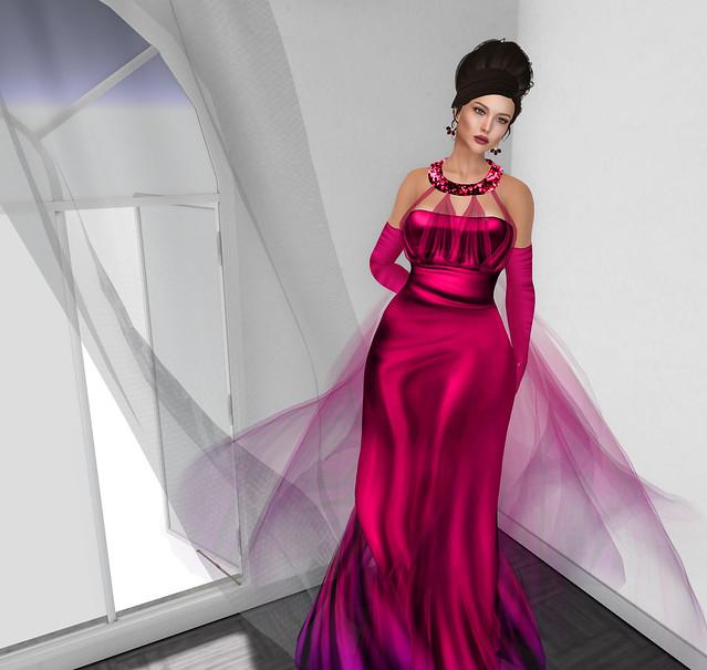 Olivia gown, Azul