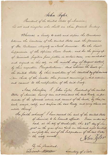 Webster-Ashburton_Treaty_ratification