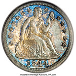1844 Liberty Seated Dime obverse