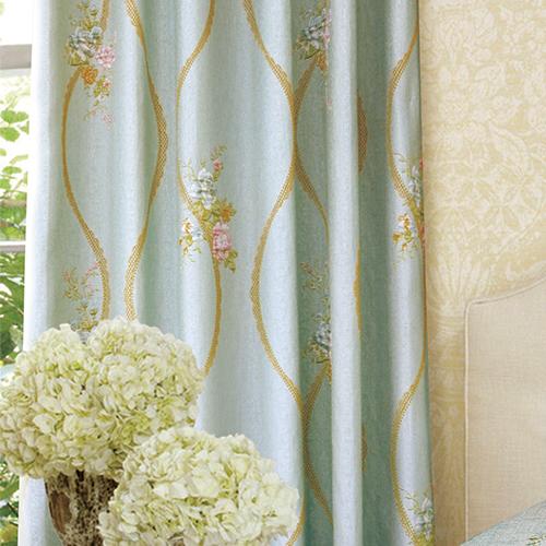 薔薇寄語 玫瑰 法式優雅花卉 鄉村風 半遮光無接縫窗簾布 DA1990038