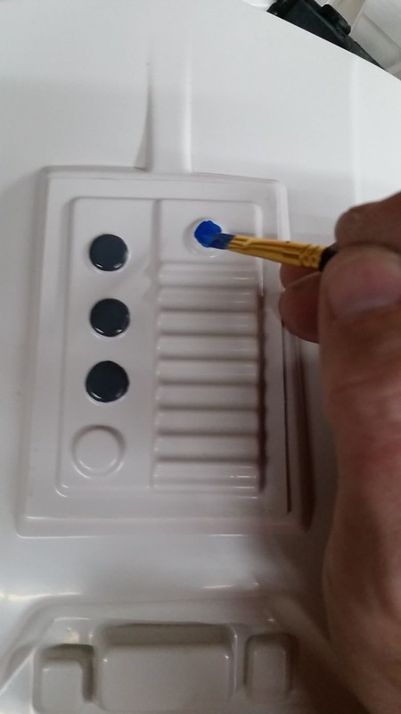 Painting Blue Buttons