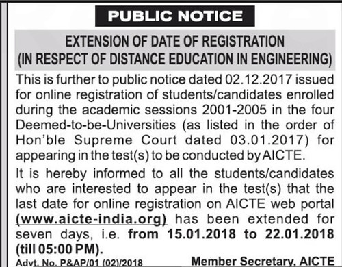 Registration date extended for distance learning engineering program