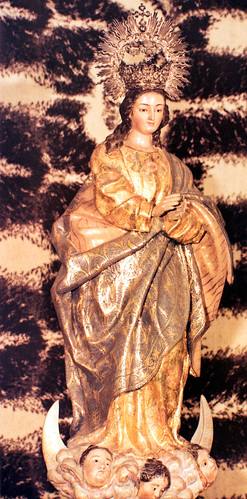 La Inmaculada [1] - En la capilla de La Comunidad. Imagen donada por el convento de Cádiz.