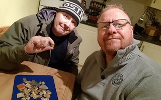 Detectorists with their fake find