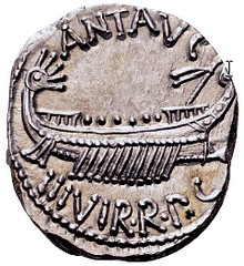 Mark Antony Legionary Denarius obverse