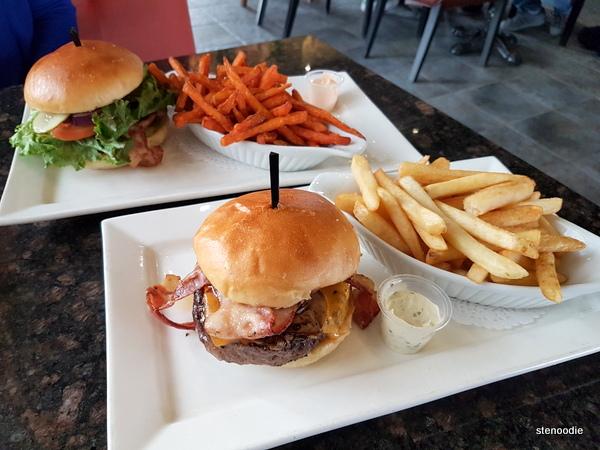 Symposium burger and fries