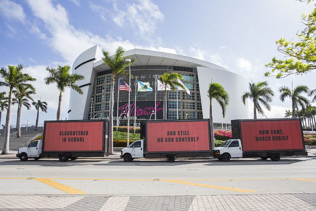 3 Billboards Tour Miami Calling Attention to Marco Rubio's Refusal to Protect Schoolchildren from Guns