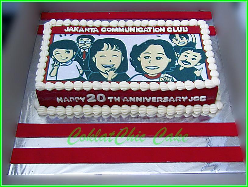 Cake Anniversary JCC Edible Image 15x30 cm