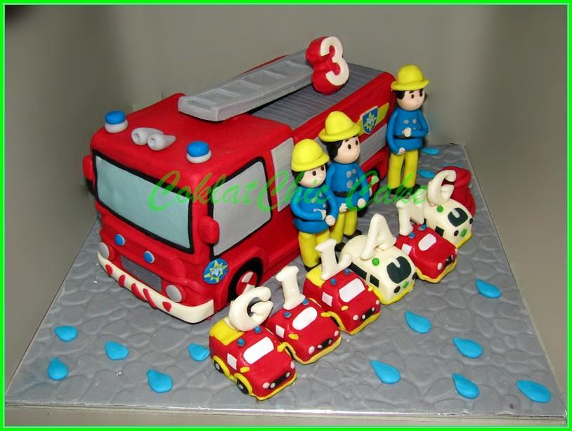 Cake firetruck Fireman Sam GILANG 20cm