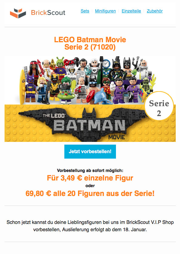 LEGO 71020 Batman Movie Serie 2