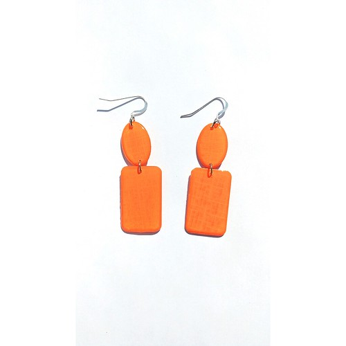 Resin-Coated Paper Earrings by LC Studios