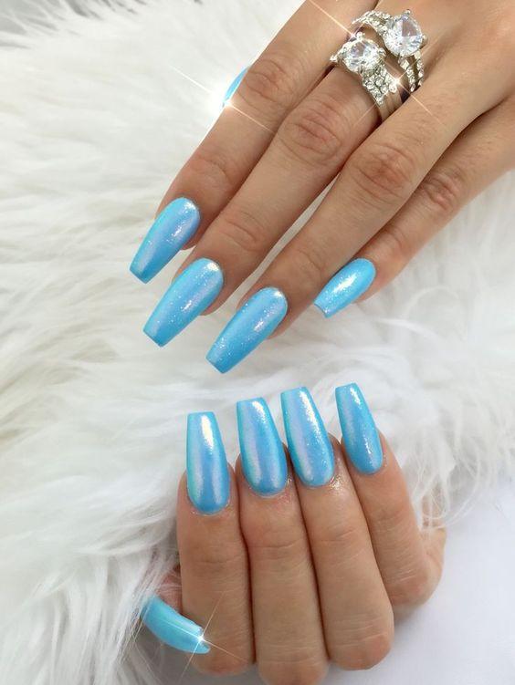 Beautiful Long Acrylic Chrome Nails 2018 Fashionre